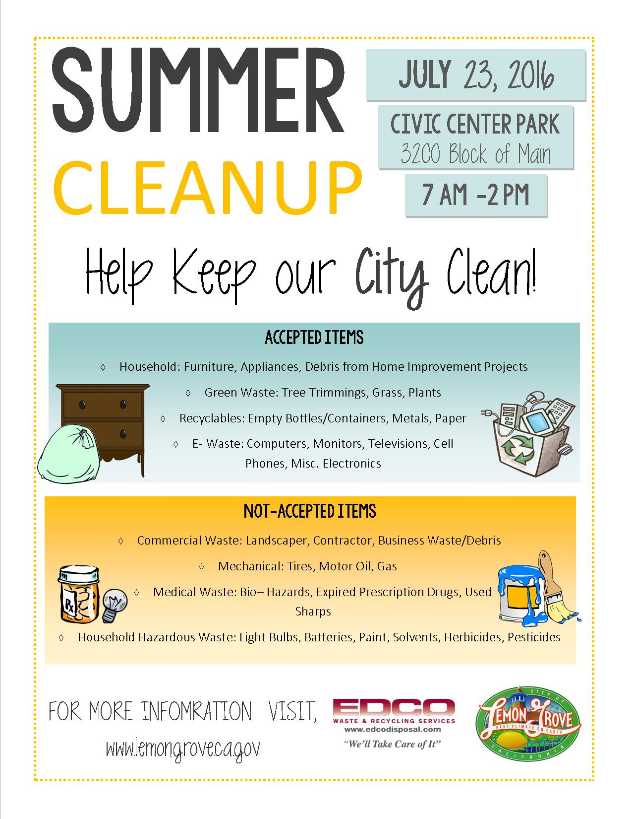 2016 Summer Clean Up