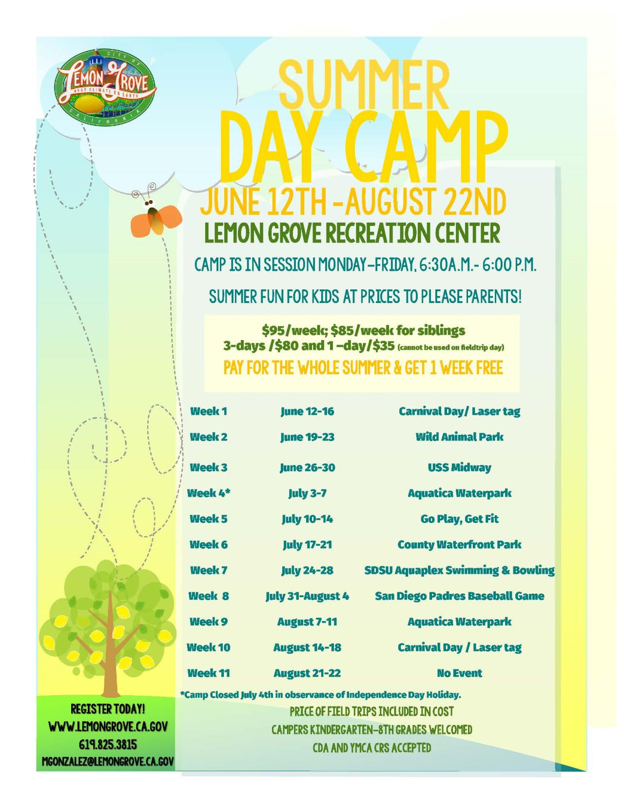 Summer Camp 2017 Flyer