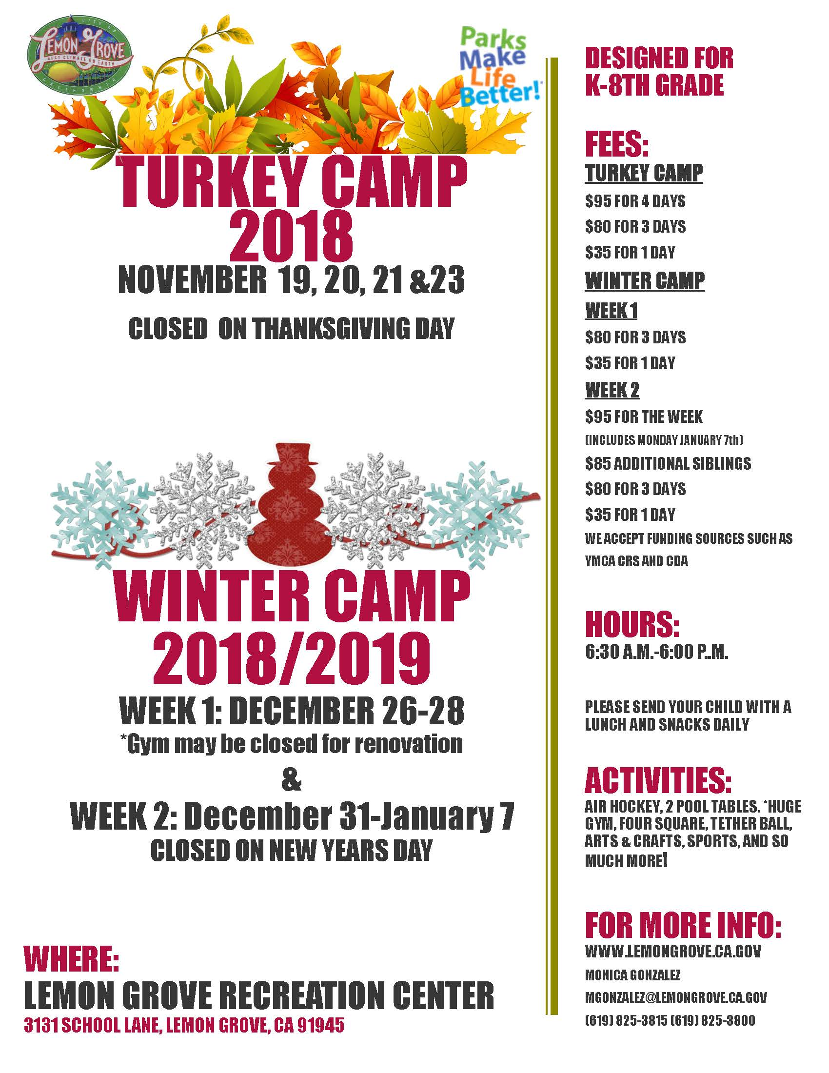 Turkey winter camp 2018