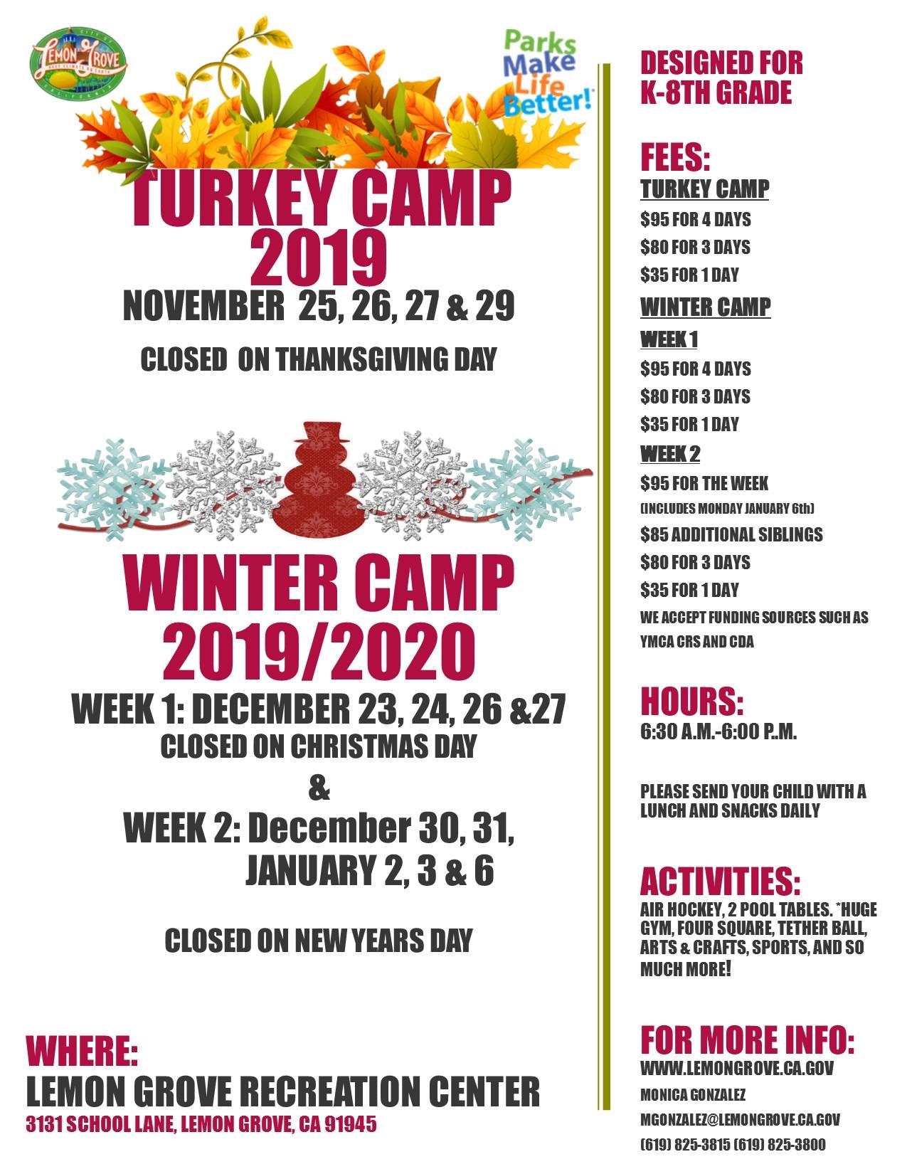 Turkey winter camp 2019updated